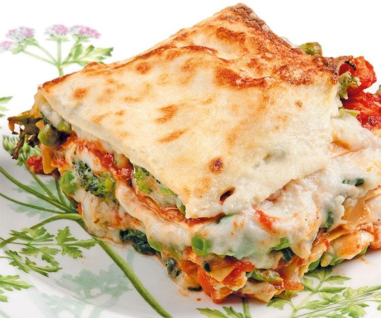 Lasagne vegetariane in inglese